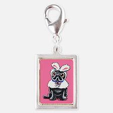Grumpy Pug Bunny Pink Charms