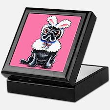 Grumpy Pug Bunny Pink Keepsake Box