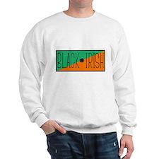 Black Irish Green and Orange Sweatshirt