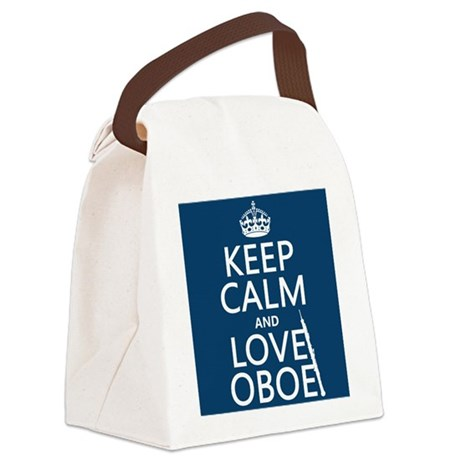 Keep Calm and Love Oboe Canvas Lunch Bag
