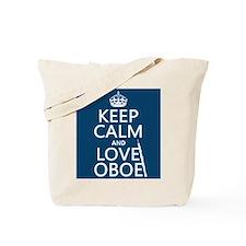 Keep Calm and Love Oboe Tote Bag
