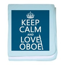 Keep Calm and Love Oboe baby blanket