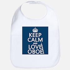 Keep Calm and Love Oboe Bib