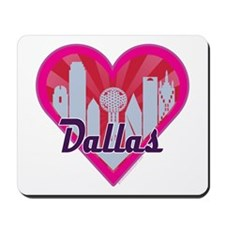 Dallas Skyline Sunburst Heart Mousepad