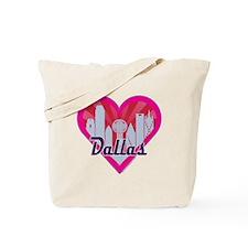 Dallas Skyline Sunburst Heart Tote Bag