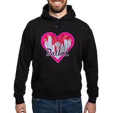 Dallas Skyline Sunburst Heart Hoodie