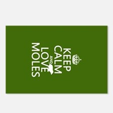 Keep Calm and Love Moles Postcards (Package of 8)