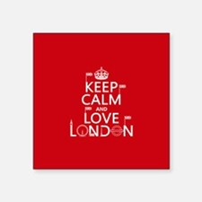 Keep Calm and Love London Sticker
