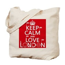 Keep Calm and Love London Tote Bag