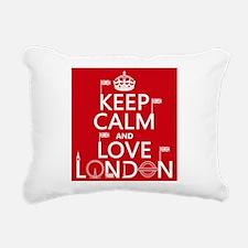 Keep Calm and Love London Rectangular Canvas Pillo