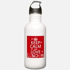 Keep Calm and Love London Sports Water Bottle
