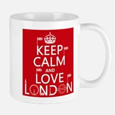 Keep Calm and Love London Mugs