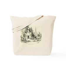 Vintage England Summer-House Tote Bag