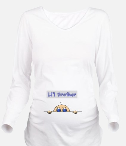 Lil Brother (Light Skin) Long Sleeve Maternity T-S