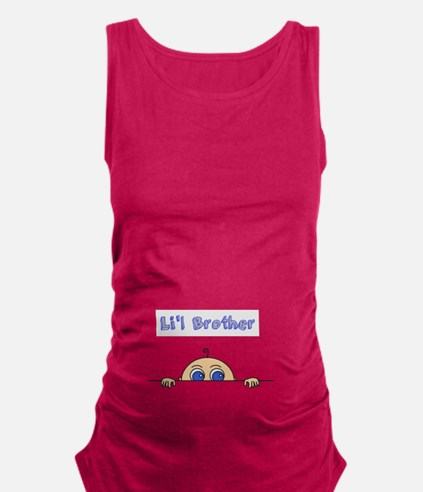 Lil Brother (Light Skin) Maternity Tank Top