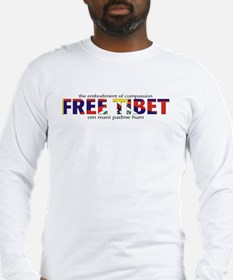 For A Free Tibet: Long Sleeve T-Shirt