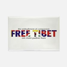 For A Free Tibet: Rectangle Magnet (10 pack)