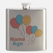 CUSTOMIZE Happy Birthday Any Age Flask