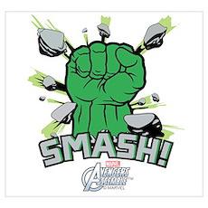 Hulk Smash Wall Art Poster