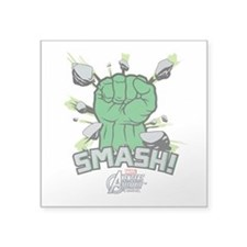 "Hulk Smash Square Sticker 3"" x 3"""