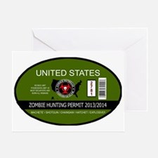 Zombie Hunting Permit 2013/2014 Greeting Card