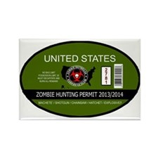 Zombie Hunting Permit 2013/2014 Rectangle Magnet