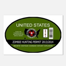 Zombie Hunting Permit 201 Postcards (Package of 8)