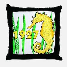 Seahorse, 1927 Throw Pillow