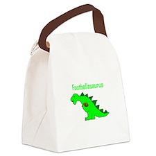 Footballasaurus Canvas Lunch Bag