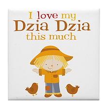 Scarecrow I Love Dzia Dzia Tile Coaster