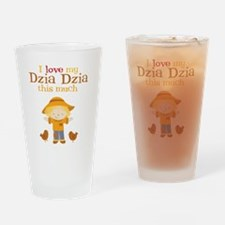 Scarecrow I Love Dzia Dzia Drinking Glass