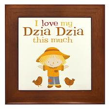 Scarecrow I Love Dzia Dzia Framed Tile