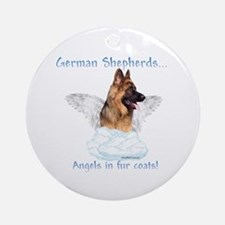 GSD Angel Ornament (Round)
