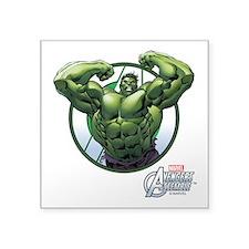 "The Incredible Hulk Square Sticker 3"" x 3"""