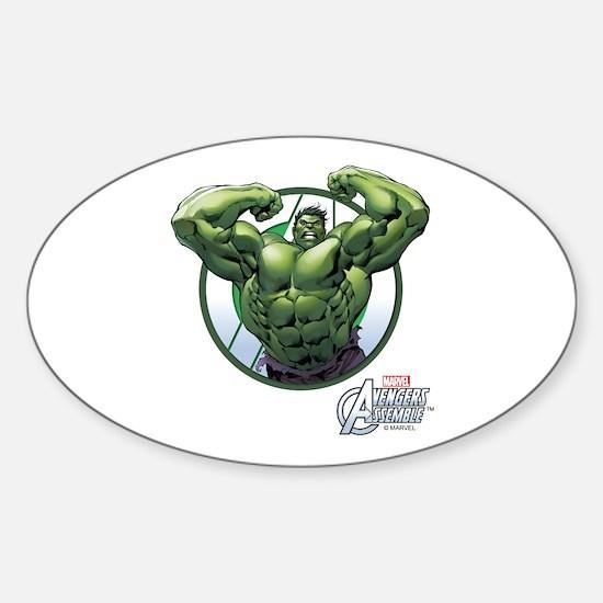 The Incredible Hulk Sticker (Oval)