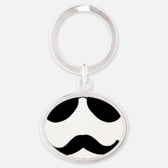 Aviator Face Oval Keychain