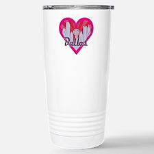 Dallas Skyline Sunburst Heart Travel Mug