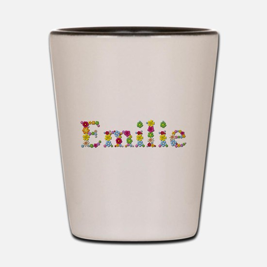 Emilie Bright Flowers Shot Glass