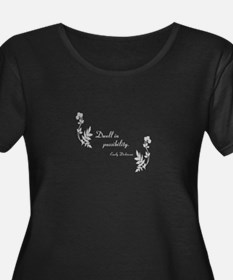 Dwell in Possibility silver Plus Size T-Shirt