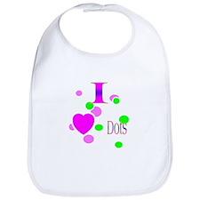 I Love Dots Bib