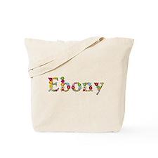 Ebony Bright Flowers Tote Bag
