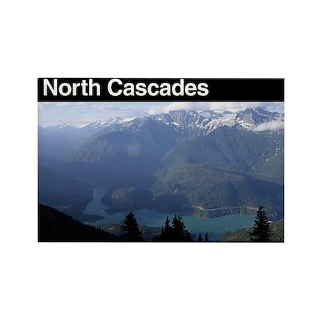 North Cascades National Park Rectangle Magnet