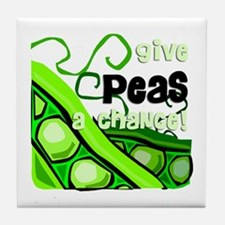 Give Peas a Chance! Tile Coaster