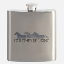 Rather Be Riding A Wild Horse Flask