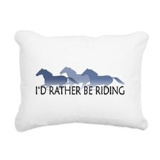 Rather Be Riding A Wild Horse Rectangular Canvas P