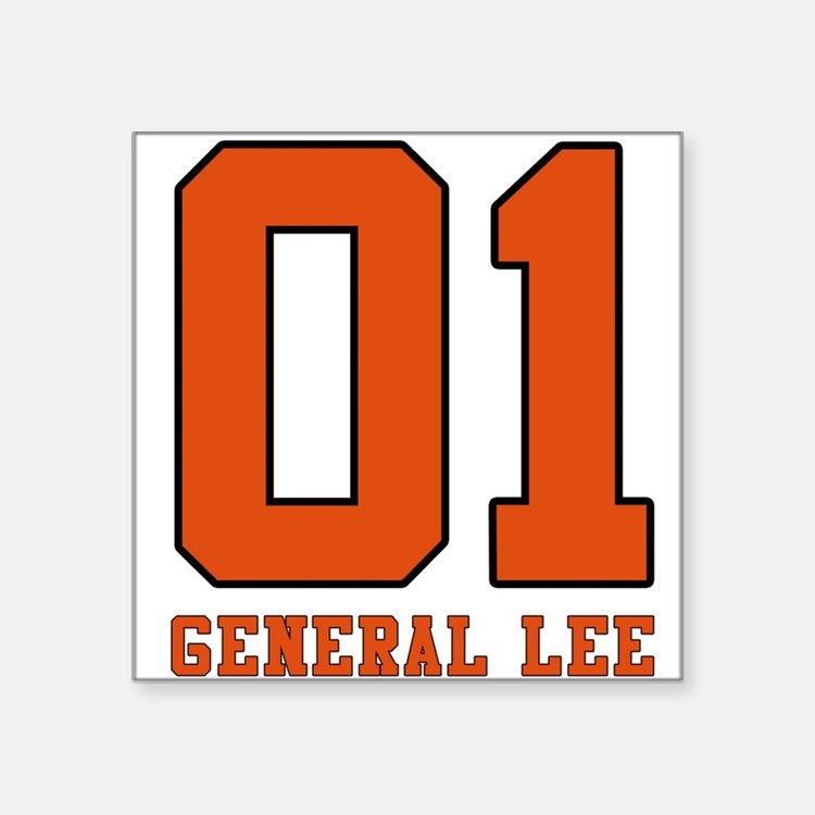 General Lee Rectangle Sticker