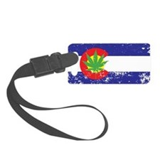 Colorado State Flag, Marijuana, Pot Leaf Luggage Tag