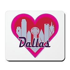 Dallas Skyline Heart Mousepad