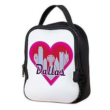 Dallas Skyline Heart Neoprene Lunch Bag