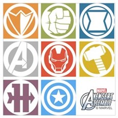 Avengers Squares Wall Art Poster